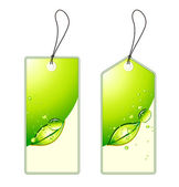 Green shopping tags set — 图库矢量图片