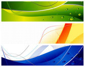 Abstract web banners set — Stock Vector