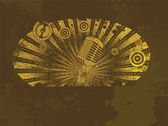 Ilustración de la música grunge — Vector de stock