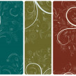 Abstract floral banners set — Stock Vector #11140038