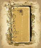 Cadre floral grunge — Vecteur