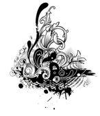 花とハーフトーン — ストックベクタ