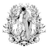 Dark gothic t-shirt design — 图库矢量图片