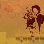 Grunge concert poster — Stock Vector #11236209