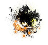 Grunge letní obrázek — Stock vektor