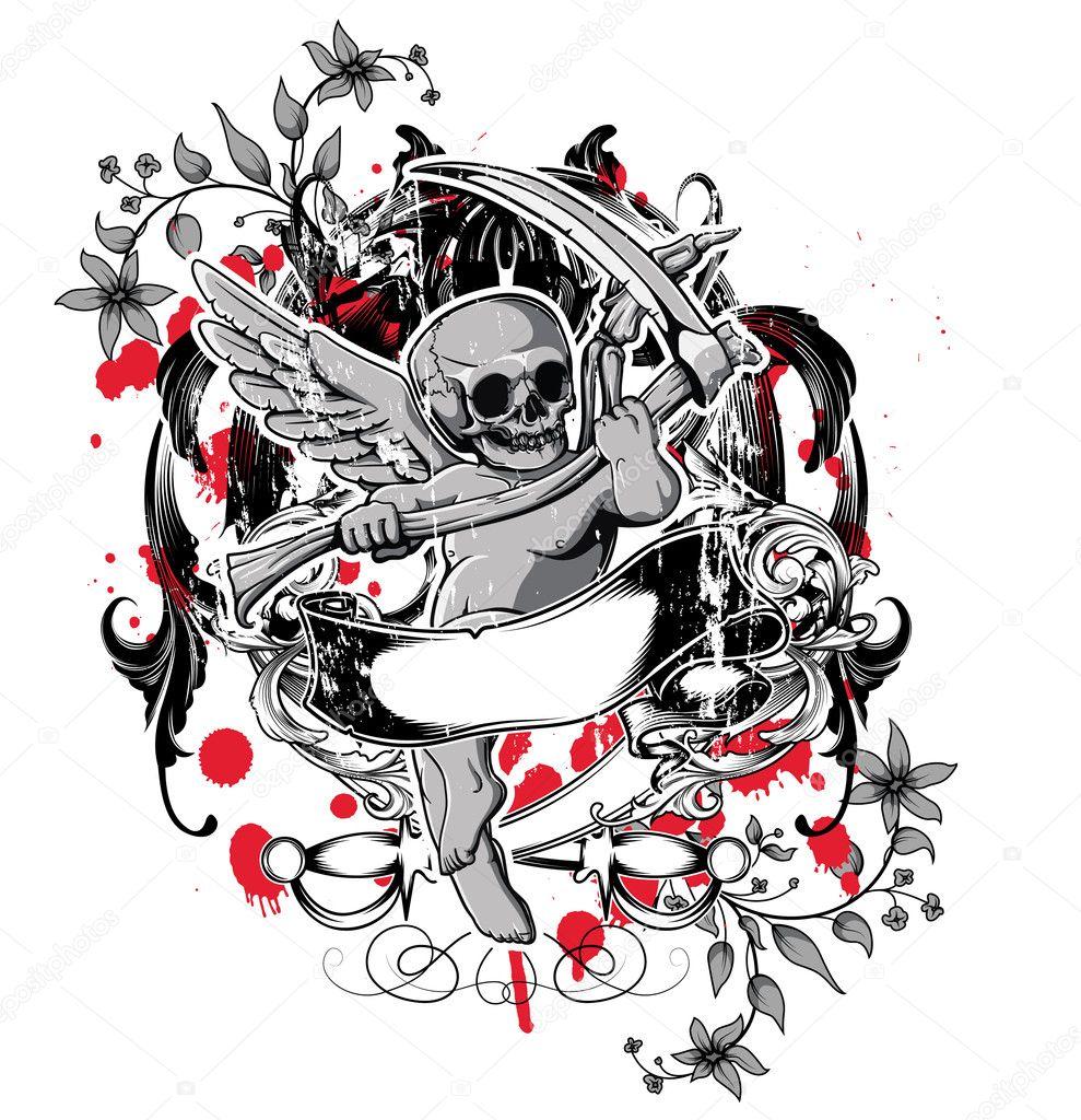 T shirt design download - Dark Gothic T Shirt Design Vector Illustration Vector By Designious
