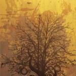 Grunge autumn background — Stock Vector