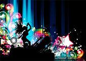 Affiche concert coloré — Vecteur