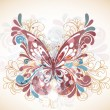 Stok Vektör: Abstract butterfly with swirls