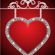 Vector de stock : Valentines background with heart