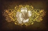 Grunge floral ilustração — Vetorial Stock