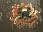 Grunge concert poster — Stock Vector