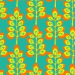 Pattern with yellow leaves - Stock Vector