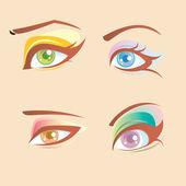 Charming eye set — Stock Vector