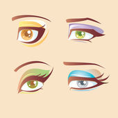 Fresh eye set — Stock Vector