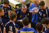 Junior volleyball game — Stockfoto