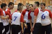 Junior volleybal spel — Stockfoto