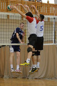 Junior volleyball game — Stock Photo