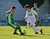 Kaposvar - Paks under 19 soccer game — Foto de Stock