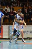 Jönköpings södra - fehervar basketmatch — Stockfoto