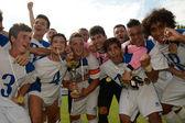 Brescia Academy (ITA) - SYFA West Region under 17 soccer game — Foto de Stock