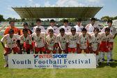 Pozo Almonte (Chi) - Fc Makedonija (Mkd) sob 16 jogo de futebol — Fotografia Stock