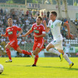 Kaposvar - Debrecen soccer game — Stock Photo