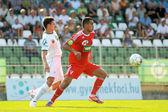 Kaposvar - Debrecen-Fußballspiel — Stockfoto