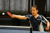Kaposvar - Beremend table tennis game — Stock Photo