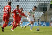 Kaposvar - Debrecen soccer game — Stockfoto