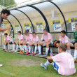 Tirgu Mures (ROM) - Kaposvar (HUN) Under 14 soccer game — Stock Photo