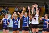 Kaposvar - Budai XI volleyball game — Stock Photo