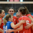 Kaposvar - Budai XI volleyball game — Stock Photo #12304703