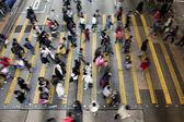 Street Crossing in Hong Kong — Stock Photo