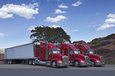 Semi Trucks Parked Together — Stock Photo