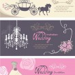 Stock Vector: Wedding cards design template