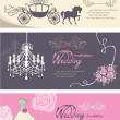 Wedding cards design template - Stock Vector