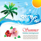 Summer holiday vector design 01 — Vector de stock