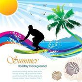 Summer holiday vector design 02 — Stock Vector