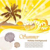 Summer holiday vector design 04 — Stock Vector
