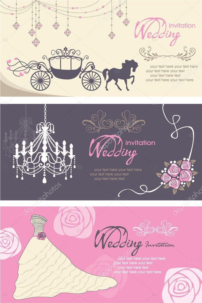 wedding cards design template  stock vector © catherinechin, Wedding invitation