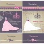 Wedding cards design template — Stock Vector