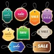 Stock Vector: Sale tag collection