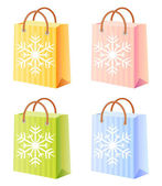 Christmas shopping bag — Stock Vector
