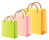 多色の買い物袋セット — ストックベクタ