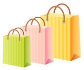 Multicolor shopping bags set — Stock Vector