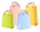 Bolsos de compras multicolores — Vector de stock