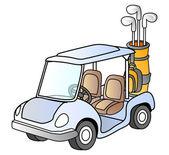 Golf car — Stock Vector