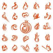 Fire flames — Stock Vector