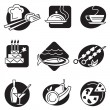 Set of different food icons — Stock Vector